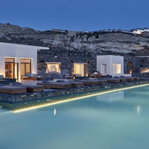 Greece Honeymoon Packages Canaves Oia Epitome Dining View At Night
