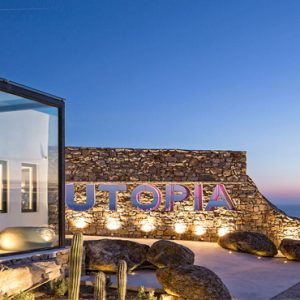 Greece Honeymoon Packages Myconian Utopia Hotel View At Night