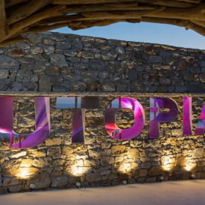 Greece Honeymoon Packages Myconian Utopia Uptopia Sign