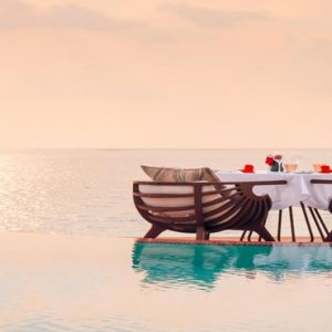 Maldives Honeymoon Packages LUX North Male Atoll Dining By The Pool