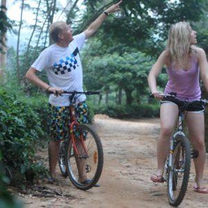 Sri Lanka Honeymoon Packages 98 Acres Resort & Spa Bike Riding