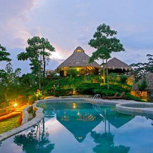 Sri Lanka Honeymoon Packages 98 Acres Resort & Spa Pool View At Night