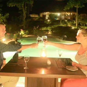 Sri Lanka Honeymoon Packages 98 Acres Resort & Spa Restaurant Dining At Night