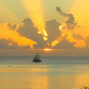 Nevis Honeymoon Packages Oualie Beach Resort Sunset Catamaran View