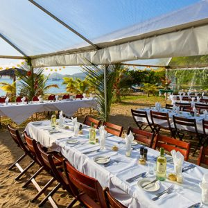 Nevis Honeymoon Packages Oualie Beach Resort Wedding Setup