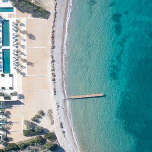 Greece Honeymoon Packages Amanzoe Aerial View Of Beach Club