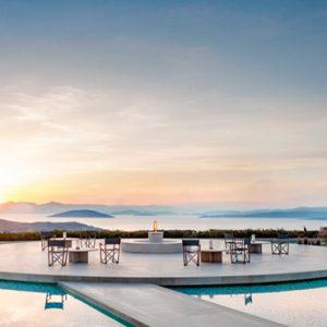 Greece Honeymoon Packages Amanzoe Amanzoe Central Terrace