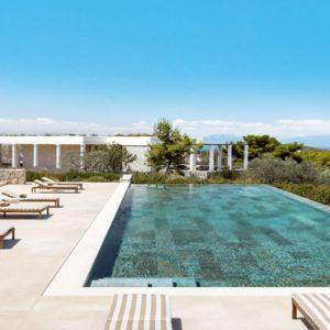Greece Honeymoon Packages Amanzoe Bedroom Villa Overview