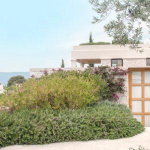 Greece Honeymoon Packages Amanzoe Deluxe Pool Pavilion Premium View Entrance