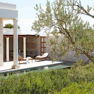 Greece Honeymoon Packages Amanzoe Deluxe Pool Pavilion Premium View Pavilion Exterior1