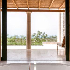 Greece Honeymoon Packages Amanzoe Deluxe Pool Pavilion Bathroom