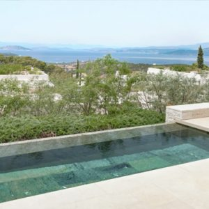 Greece Honeymoon Packages Amanzoe Deluxe Pool Pavilion Exterior Pool View