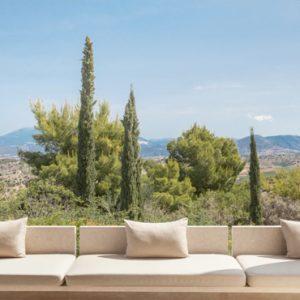 Greece Honeymoon Packages Amanzoe Deluxe Pool Pavilion Lounge