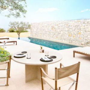 Greece Honeymoon Packages Amanzoe One Bedroom Beach Cabana