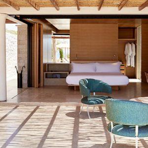 Greece Honeymoon Packages Amanzoe One Bedroom Beach Cabana Bedroom View