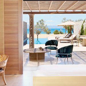 Greece Honeymoon Packages Amanzoe One Bedroom Beach Cabana Interior