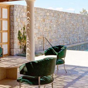 Greece Honeymoon Packages Amanzoe One Bedroom Beach Cabana Terrace Seating
