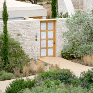 Greece Honeymoon Packages Amanzoe Pool Pavilion Premium View Entrance