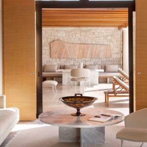 Greece Honeymoon Packages Amanzoe Pool Pavilion Living Room