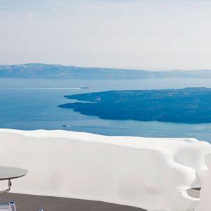 Greece Honeymoon Packages Chromata Hotel Santorini Balcony Sea View