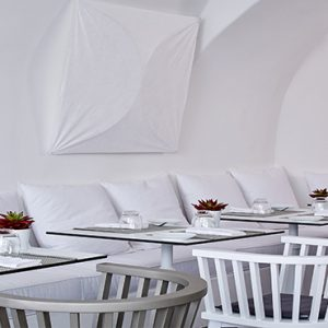 Greece Honeymoon Packages Chromata Hotel Santorini Chroma Up Style Dining