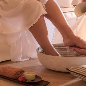 Greece Honeymoon Packages Chromata Hotel Santorini Foot Massage