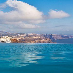 Greece Honeymoon Packages Chromata Hotel Santorini Pool View