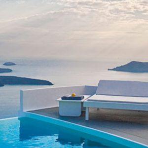 Greece Honeymoon Packages Chromata Hotel Santorini Sea And Pool View