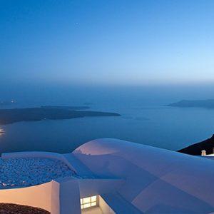 Greece Honeymoon Packages Chromata Hotel Santorini Sea View At Night1