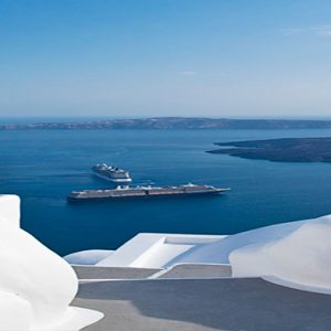 Greece Honeymoon Packages Chromata Hotel Santorini Stairway Top View