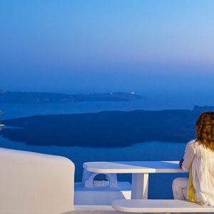 Greece Honeymoon Packages Chromata Hotel Santorini Woman Looking At Views