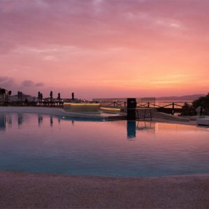 Greece Honeymoon Packages Domes Noruz Chania Raw Bar At Sunset