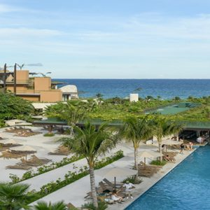 Mexico Honeymoon Packages Hotel Xcaret Resort Pool View