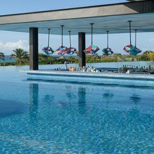 Mexico Honeymoon Packages Hotel Xcaret Resort Trajinera Swim Up Bar