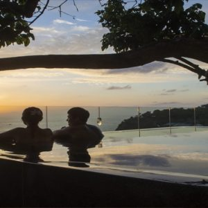 Thailand Honeymoon Packages Paresa Resort Phuket Couple In Infinity Pool
