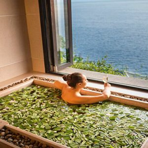 Thailand Honeymoon Packages Paresa Resort Phuket Woman In Spa Bath