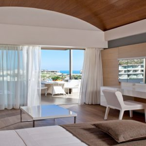 Greece Honeymoon Packages Avra Imperial Deluxe Room With Pool View Bedroom