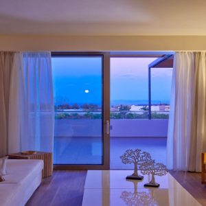 Greece Honeymoon Packages Avra Imperial Imperial Suite Living Area At Night