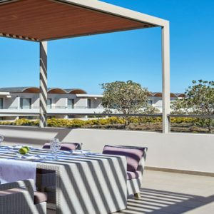 Greece Honeymoon Packages Avra Imperial Imperial Suite Outdoors Dining Table