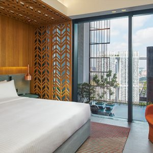 Singapore Honeymoon Packages Oasia Hotel Downtown Club Room Bedroom1