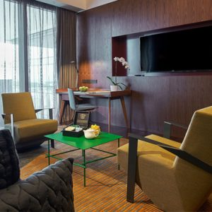 Singapore Honeymoon Packages Oasia Hotel Downtown Club Suite Living Area