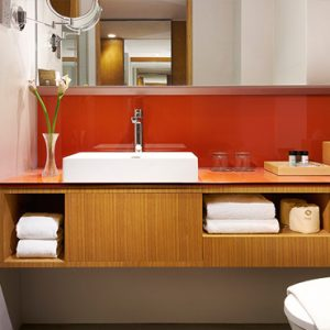 Singapore Honeymoon Packages Oasia Hotel Downtown Deluxe Room Bathroom