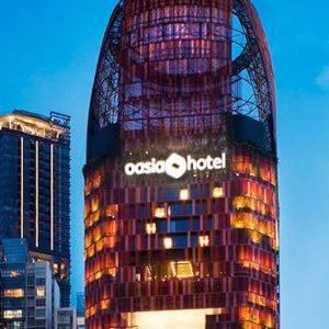 Singapore Honeymoon Packages Oasia Hotel Downtown Hotel Exterior At Night