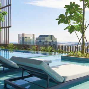 Singapore Honeymoon Packages Oasia Hotel Downtown Sun Loungers