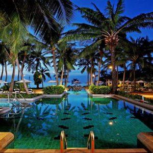 Thailand Honeymoon Packages Centara Grand Beach Resort Samui Pool At Night