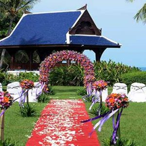 Thailand Honeymoon Packages Centara Grand Beach Resort Samui Wedding Setup Outdoors