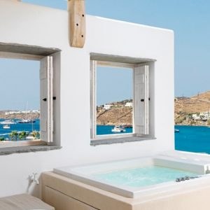 Greece Honeymoon Packages Kensho Ornos Junior Suite With Outdoor Hot Tub1