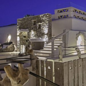 Greece Honeymoon Packages Kensho Ornos Pool Area At Night