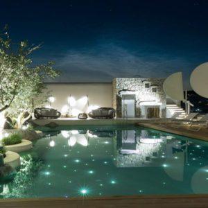 Greece Honeymoon Packages Kensho Ornos Pool At Night1