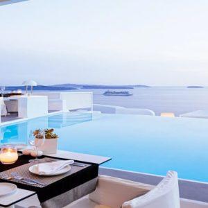 Greece Honeymoon Packages Kirini Santorini Anthos Restaurant Exterior Views